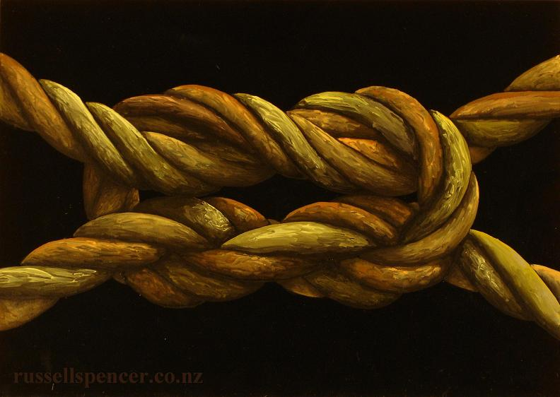 Knot 2 - painting by artist Russell Spencer