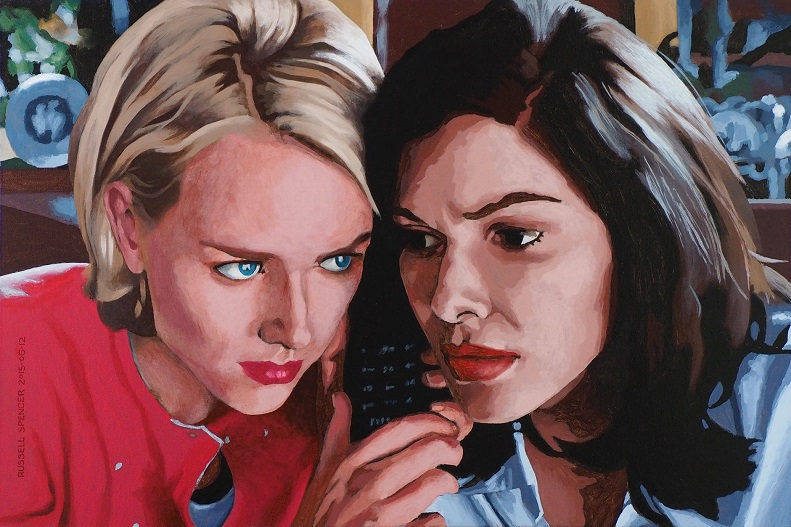 Mulholland Drive - Betty And Rita Call Rita's Home by artist Russell Spencer