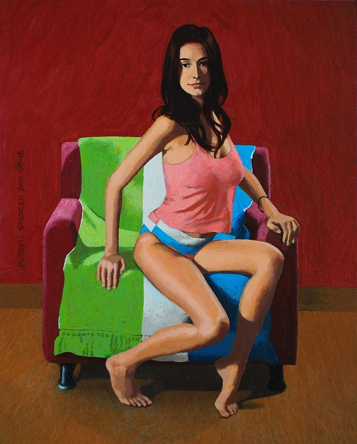 FF Perched On Armchair by artist Russell Spencer