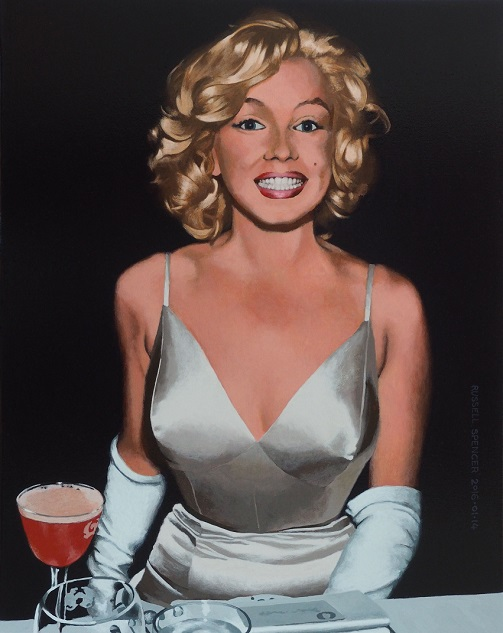 Marilyn Grinning by artist Russell Spencer