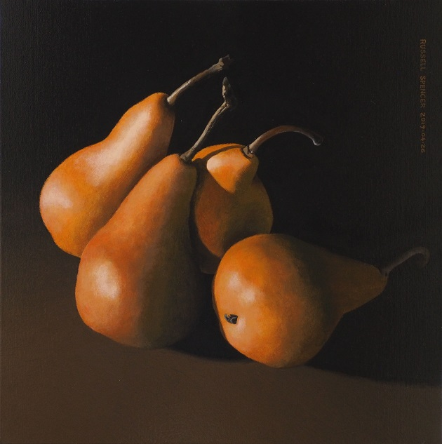Four Pears by artist Russell Spencer