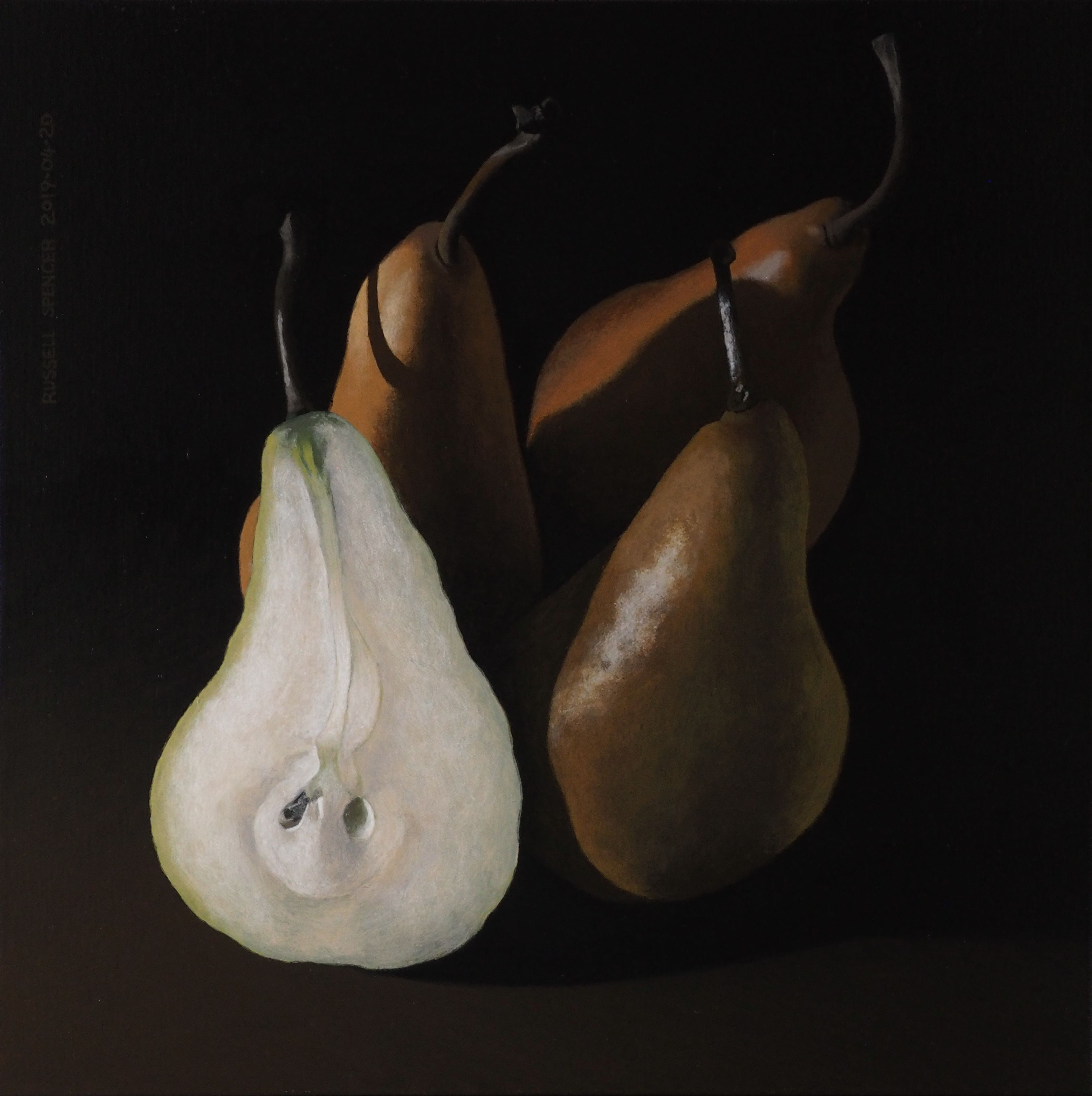 Three and a Half Pears by artist Russell Spencer (Large)
